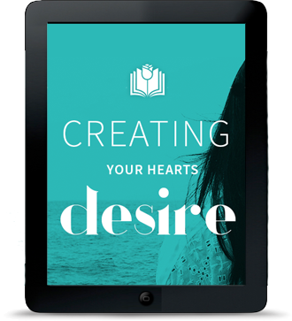 Creating Your Hearts Desire with Sonia - screen inside black iPad